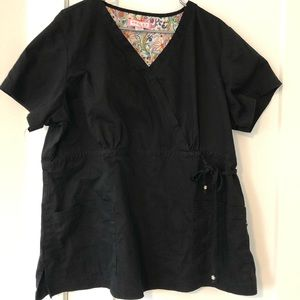 Koi scrub top v neck short sleeve shirt